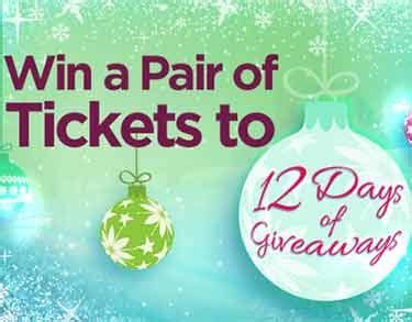 ellentv 12days tickets ellentv com 12days win a pair of