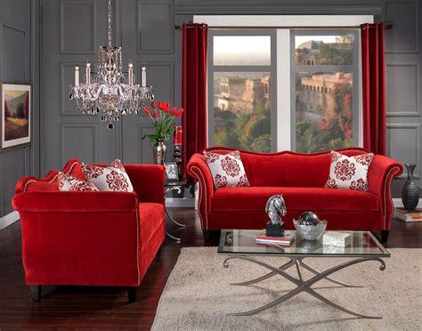 Zaffiro Ruby Red Sofa & Loveseat Set Made In USA ? USA