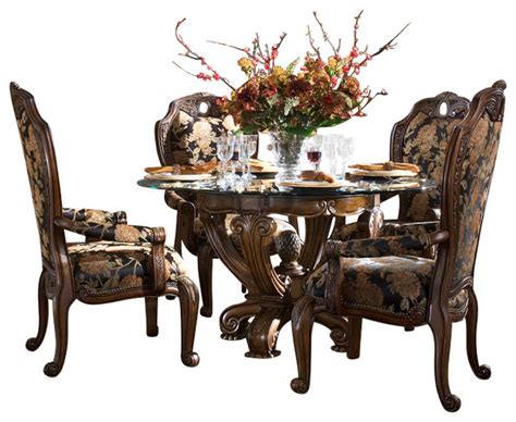 oppulente  piece  dining table set  side chairs