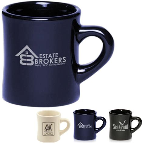 10 Oz Thick Ceramic Coffee Mugs - 12 oz thick grip glossy ceramic diner mugs
