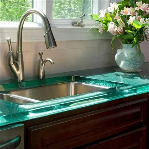 glass kitchen countertops glass countertops at the top of elegance decor around the world