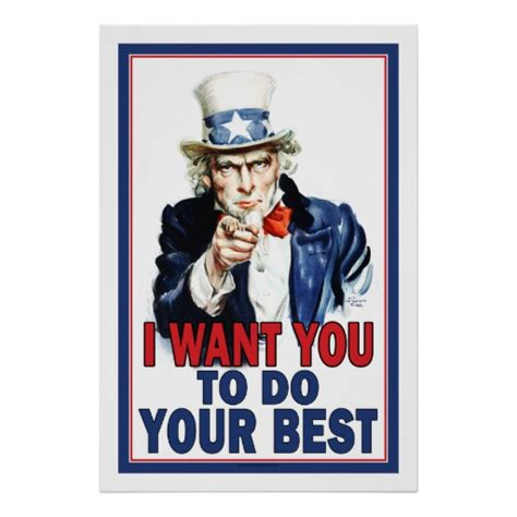 Plakat We Want You by Classroom Poster I Want You To Do Your Best Poster Zazzle