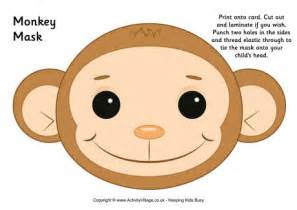new year monkey colouring in monkey mask printable