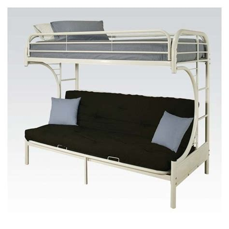 Acme Bunk Beds Acme Furniture Eclipse Metal Futon Bunk Bed In White 02091w W
