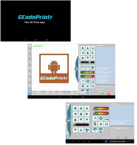 printing apps for android 3d printing apps gcodeprintr gcodesimulator gcodeinfo more