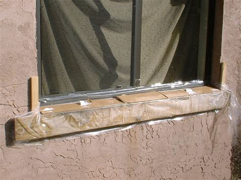 Replacement of window sill on block exterior wall   Kurt's
