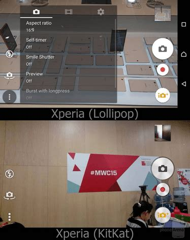 sony xperia lollipop ui vs sony xperia lollipop ui vs kitkat ui comparison