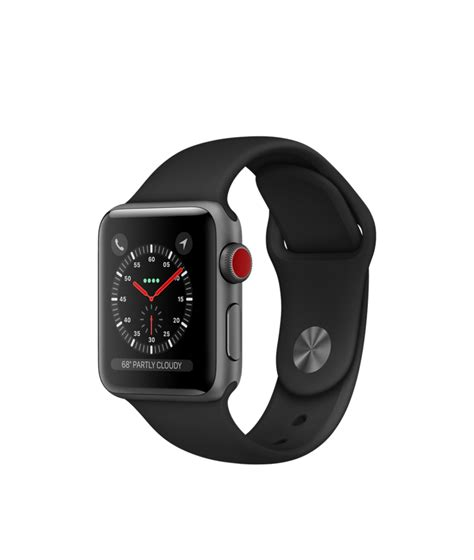 Apple Series 3 38mm Black Aluminium With Black Sport Bnib apple space gray aluminum with black sport band