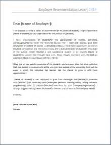 employee recommendation letter template ms word employee recommendation letter template word