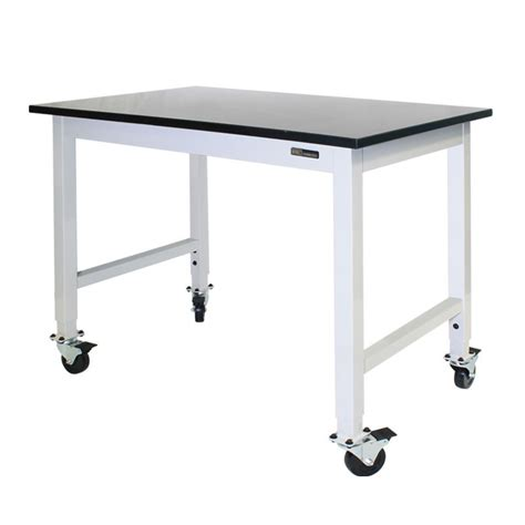 mobile lab bench iac mobile rolling lab bench table epoxy top equipmax