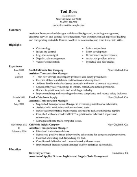 Truck Dispatcher Resume Sample by Best Transportation Assistant Manager Resume Example