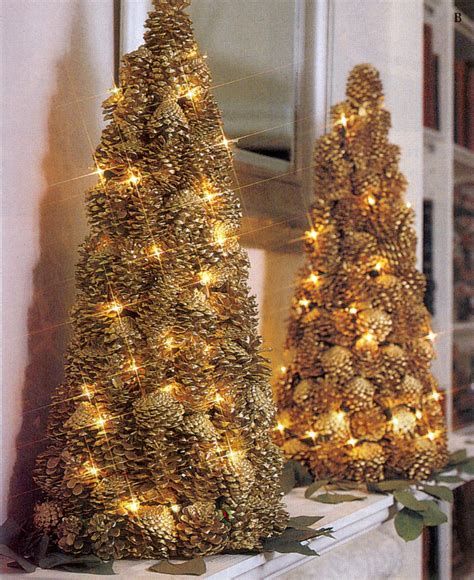 lighted pinecone trees christmas 2 pinterest