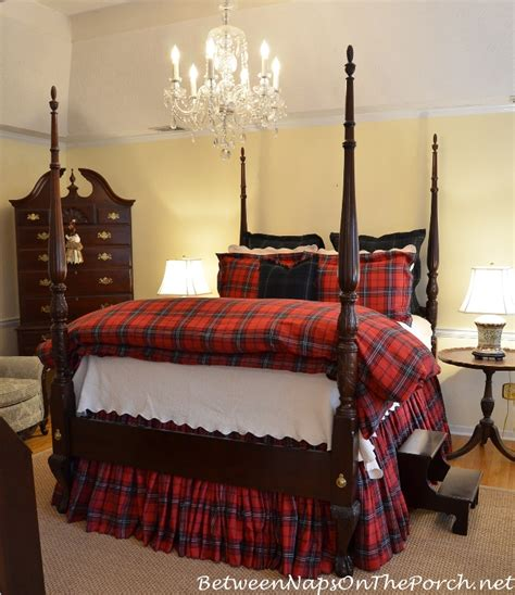 tartan bedding how to make a very full bedskirt for a tall high bed