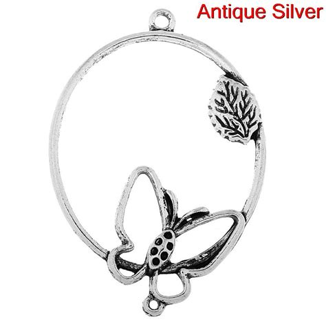 Charm Oval charm butterfly oval chbf11