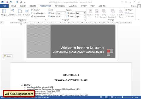 cara membuat halaman kertas pada microsoft word cara membuat orientasi halaman berbeda pada microsoft word