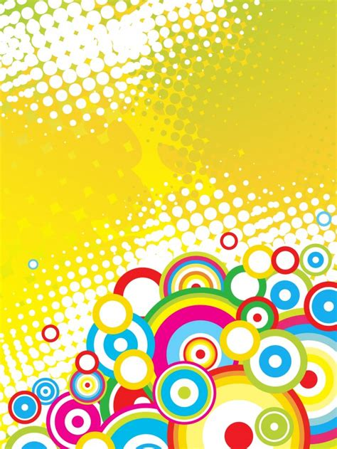 Shiny Funky And A License To Wed colorful funky circles background vector free