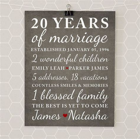 Wedding Anniversary Gift Names by 17 Best Ideas About 20th Anniversary Gifts On