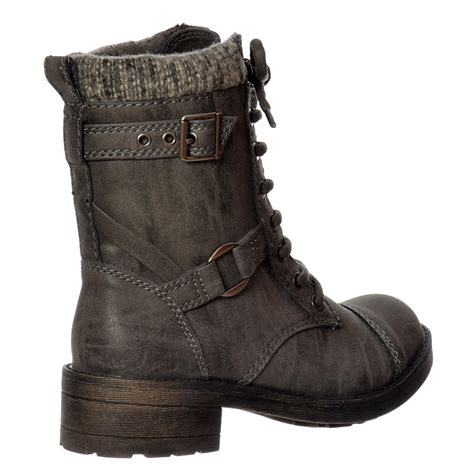 womens ankle biker boots ladies womens rocket dog thunder military biker ankle boot
