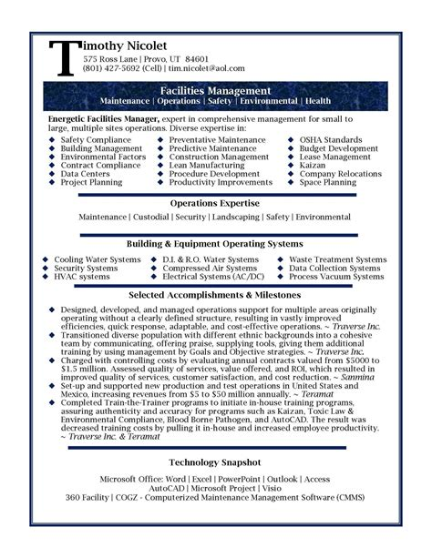 Resume Samples For It Professionals