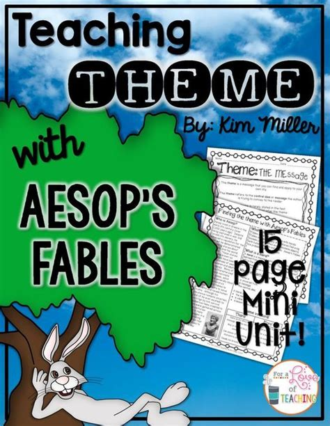 story themes and morals aesop s fables teaching themes and multiple choice on