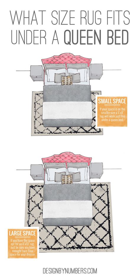 how to place a rug under a bed tips design by numbers