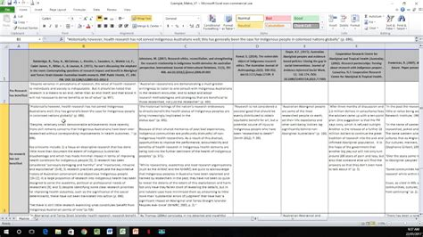 Literature Research Exle by How To Create A Literature Matrix Excel