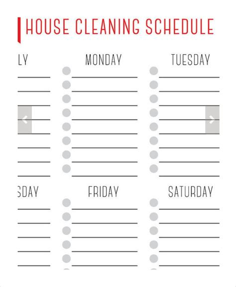 how to create a weekly cleaning schedule and stick to it