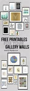 free printable wall decor roundup free printables for gallery walls gold pixel
