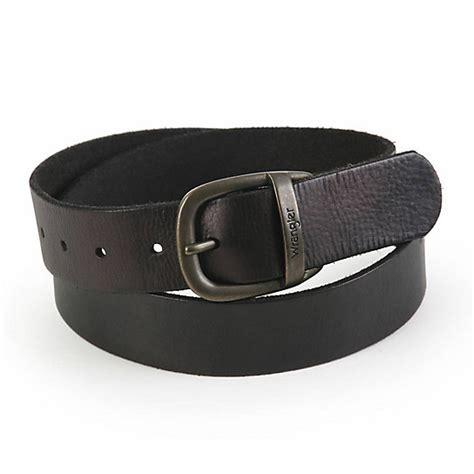wrangler 174 s grain leather belt shop mens