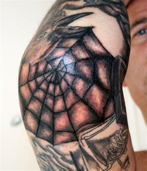spider web elbow tattoo meaning web designs rosary around neck meaning