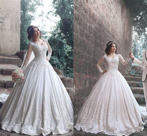 arabic bridal gowns 2017 ball gowns arabic wedding dresses applique beaded