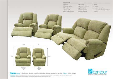 big ben sofa ben fabric recliner range the australian made caign