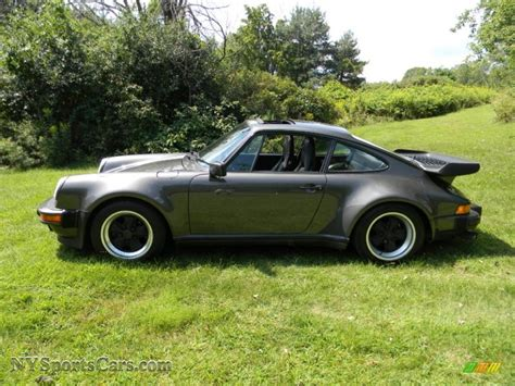 porsche slate grey metallic 1989 porsche 911 turbo in slate grey metallic