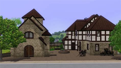 mod the sims medieval house with chapel