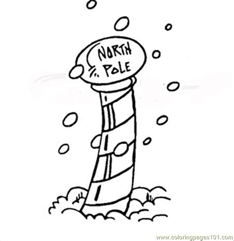North Pole To Print Free Colouring Pages The Pole Coloring Pages
