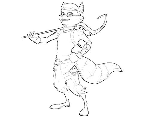 Sly Cooper Coloring Pages sly cooper thieves in time sly cooper character temtodasas