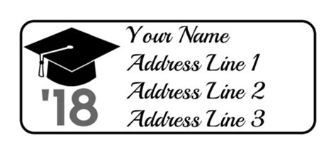 graduation labels template free graduation cap address labels label templates ol385