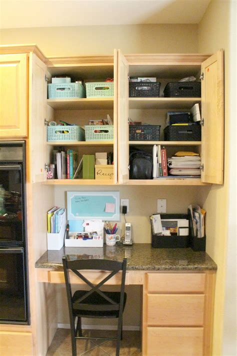 Organizing Kitchen Desk Area For The Home Pinterest Kitchen Desk Organization