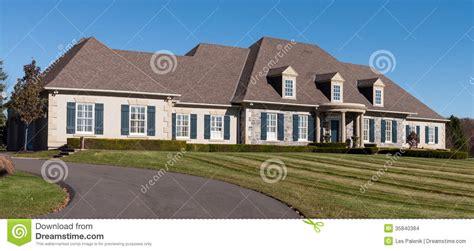 large bungalow house plans large sprawling bungalow stock images image 35840384