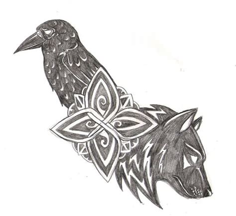 norse raven tattoo 42 best nordic wolf tattoos images on wolf