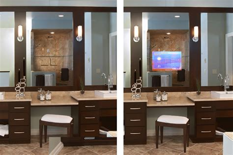 tv behind bathroom mirror bathroom remodeling trends for 2012 home improvement