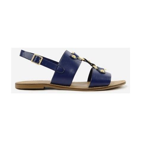 navy blue flat dress sandals charles keith gold detail flat sandals 56 liked on