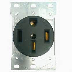 Kitchen Appliance Outlets - shop utilitech 50 amp 125 250 volt black indoor round wall range power outlet at lowes com