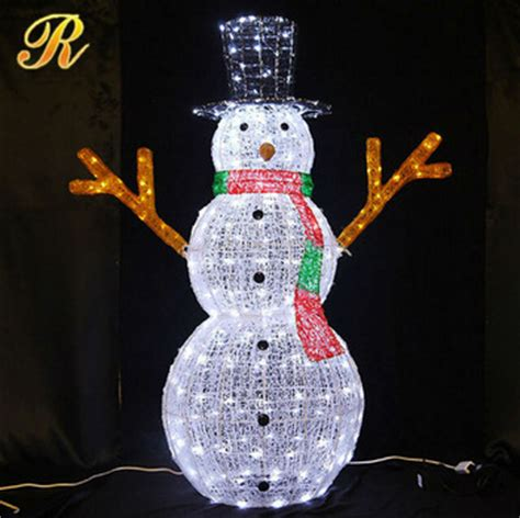 outdoor lighted snowman 3d led christmas light snowman led
