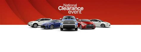 toyota national 2017 toyota national clearance event lease and finance