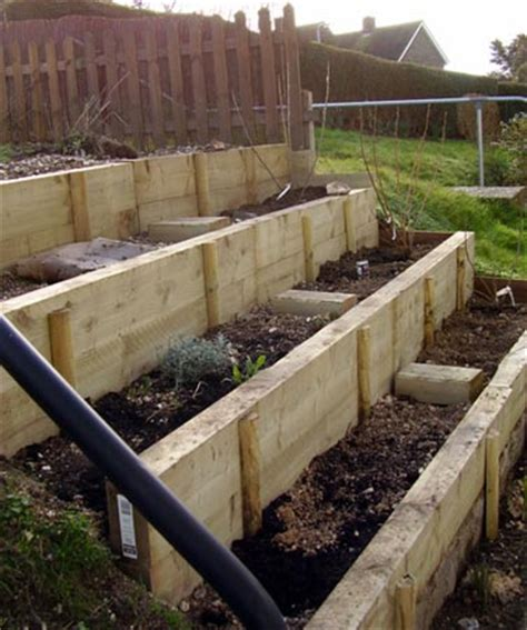 how to make a sloped backyard flat completed steps by eam31 via flickr terrace gardens