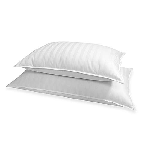 bed bath and beyond down pillows buy stripe 500 thread count king down pillow from bed bath