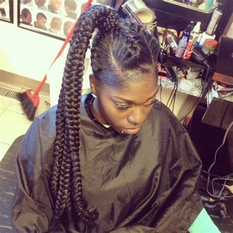 clip on braided pony tails for afro american woman african american ponytail hairstyles african american