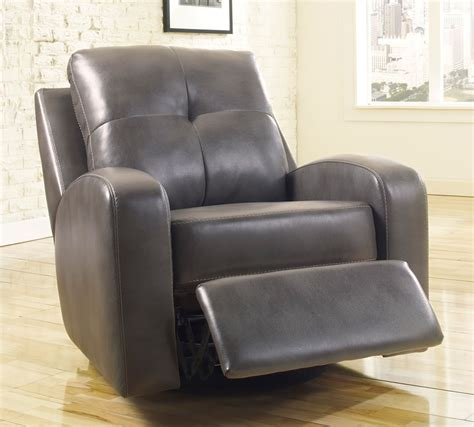 leather recliner chairs with ottoman best swivel rocker