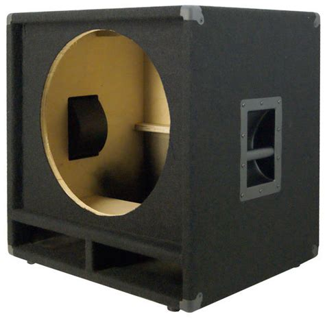 dj speaker box cabinet 1x18 bass speaker empty cabinet black carpet pa dj live